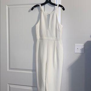 BCBG white jumpsuit